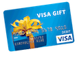 WIN 1 of 6 $300 VISA E-Gift Cards