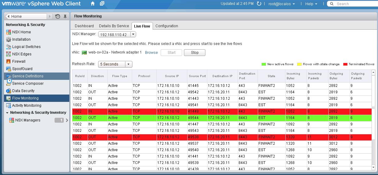 VMware NSX Screen Shot