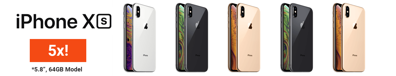 Win 1 of 5 iPhone XS Smartphones In Your Choice of Color!