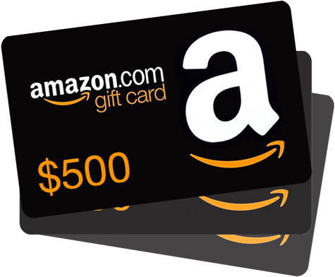 WIN 1 of 2 $500 Amazon Gift Cards