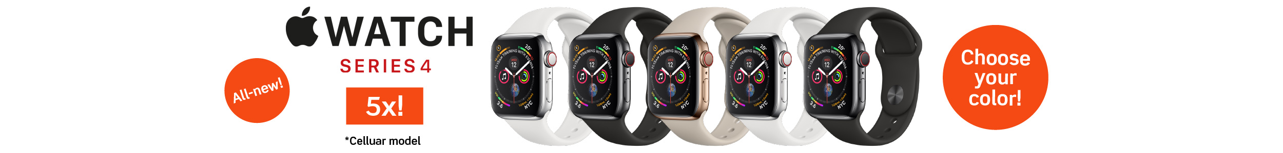 Apple Watch Series 4 (GPS + Cellular) - Stainless Steel