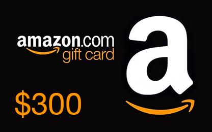 WIN A $300 Amazon Gift Card